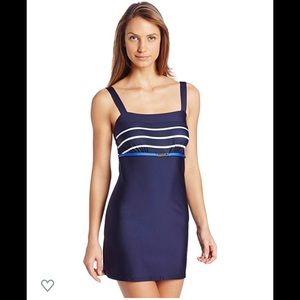 Nautica Signature Stripe Swimdress Sz 6